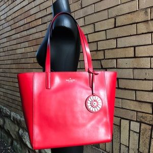 Kate Spade Rosa Medium Tote hotchili red NWT